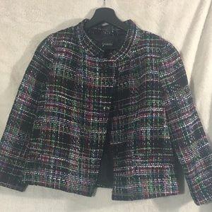 NWOT-Talbots-Black Multi-Colored Wool Blazer/-4